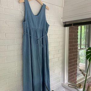 Vintage Denim Maxi Dress